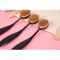 Toothbrush Shape Makeup Brush Black Nylon Handle 14.5 cm Total Length