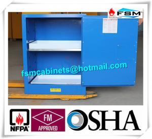 Blue Corrosive Chemical Acid Storage Cabinet Flammable Locker Single Door