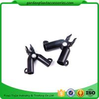 Cheap Adjustable Garden Cane Connectors , 16mm Black Bamboo Cane Connectors 50*40*40 Free sample for sale