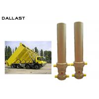 3 / 4 Stage Telescopic Dump Truck Lifting Hydraulic Hoist Cylinder