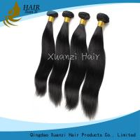 Cheap Silky Straight  Malaysian Virgin Hair Extensions Double Weft No Smell No Shedding for sale