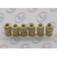 Cheap Small Machine Parts Plastic Insert Parts Brass Nuts With Blind Via Hole for sale