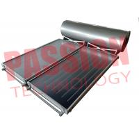 Cheap 300L Flat Plate Collector Solar Water Heater / Thermal Hot Water Heater Direct Plug Connection with 2 Collector for sale