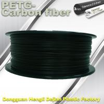 Cheap 3D Printer Filament 1.75mm PETG - Carbon Fiber Black Filament High Strength Filament for sale