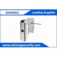 Cheap Card Reading Tripod Turnstile Gate / Half Height Turnstile For Office Visitor Management for sale