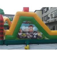 challenging inflatable obstacle course bounce house red blue rh nflatablestoy wholesale autoplansearch com