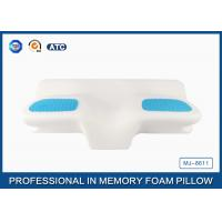 Unique Gel Memory Foam Wedge Pillow , 25.6X14.17X5.51 Inch Cooling Gel Bed Pillow
