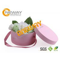 Cylindrical Wedding Candy Gift Paper Round Flower Box For Bridal And Baby Shower
