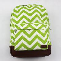 Reusable Special Custom Canvas Backpacks Bright Stripe With Two Tones
