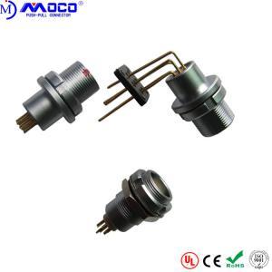 Watertight Circular Push Pull  Connectors HEG Solder And Print Contacts