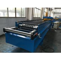 Cheap 7.5kw Corrugated Sheet Metal Roll Forming Machine With Electrical Decoiler for sale