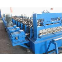 380V 50Hz Steel Tile Roll Forming Machine with PLC Compture Control System / Cr12mov Blade