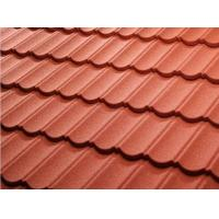 Cheap Color Stone Coated Steel Roof Tiles , Stone Coated Roofing Sheet Alum - Zinc Steel Sheet Material for sale