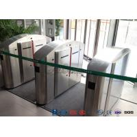 Cheap TCP / IP Flap Turnstile Security Gate Access Control Wheelchair Lanes For Subway Doors for sale