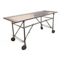 Buy cheap Foldable Stainless Steel Embalming  Operating Autopsy Tables Mortuary Products from wholesalers