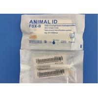 Cheap Reusable Pet Tracking Microchip , 1.4*8mm Identity Chip For Dogs 10 Years Guarantee for sale