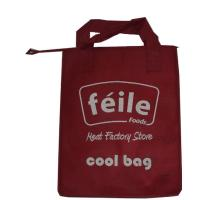 Red Small Lunch Insulated Cooler Bags for Frozen Food , Silk Screen Logo