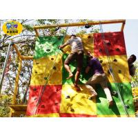 Commercial Childrens Rock Climbing Wall , Fiberglass Kids Indoor Climbing Wall