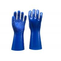 Buy cheap Single Dipped PVC Dotted Gloves Gauntlet Interlock Liner Stable Working from wholesalers