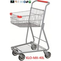 Cheap Chrome Plating Grocery Shopping Trolley 40L / Supermarket Shopping Carts for sale
