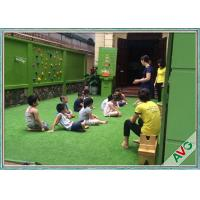 Cheap Leisure Kindergarten Outdoor Artificial Grass Green Color With Safety Woven Backing for sale