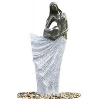 Cheap Classical Black Marble Statue Water Fountains In Fiberglass Material for sale