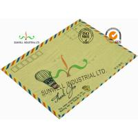 Standard Size Kraft Paper Custom Printed Envelopes With UPC Barcode Printing Edge