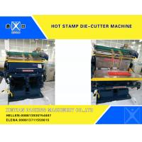Buy cheap Semi - Automatic Smooth Creasing Cutting Machine Hot Stamp Die Cutter Machine from wholesalers