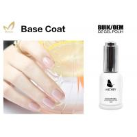 Non - Toxic Gel Top Coat And Base Coat , Clear Nail Art Base Coat No Layering