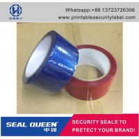 Cheap Customized Promotion PET Tamper Security Seal Tape For Carton Sealing for sale