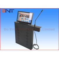 Automatic Microphone Computer LCD Monitor Lift With 15.6 Inch Motorized Screen