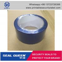 Cheap Blue / Red Security Seal Tape , 25 Microns Tamper Evident Sealing Tape for sale