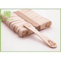 Quality Bulk Custom Printed Wooden Spoons , Ice Cream Taster Spoons With Different Size wholesale