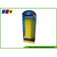 Floor Standing Cardboard Display Stands , Peg Board PDQ Retail Display For Point Of Sale HD012