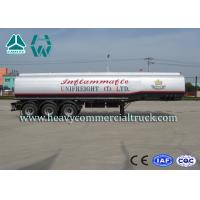 A7 Anti Caustic Light Weight Fuel Tank Semi Trailer Reliable Structure