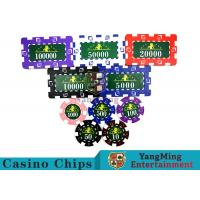 Cheap Translucent Marco Style Casino Poker Chip Set With Crystal Clear Texture for sale