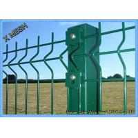 Cheap Powder Coated Wire Mesh Fence Panels , Perimeter Coated Welded Wire Fence Steel for sale