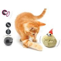 Cheap Electronic Auto Motion Bouncing Battery Operated Pet Toys With Plush Cover for sale