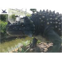 Cheap Artificial Animatronic Dinosaur Lawn Statue For Outdoor Amusement Theme Park for sale