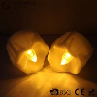 Cheap Yellow Flickering Timing Flameless LED Tea Light Candles with Timer for sale