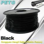 Cheap 1.75mm / 3.0 mm Temperature Resistance  PETG Black Filament  1.0KG / Roll for sale