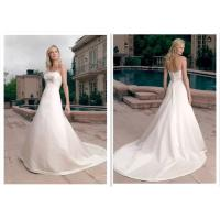 Traditional A Line Princess Wedding Dress , White A Line Bridal Gowns