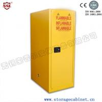 Heavy Duty Lockable Storage Cabinet With Distinct Safety Signs And Bullet Latches