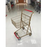 Cheap 40L Folding Grocery Shopping Trolley , Singel Basket Supermarket Shopping Carts for sale