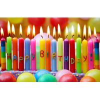 Fancy Rainbow Color Long Birthday Candles With Happy Letters Painted Images