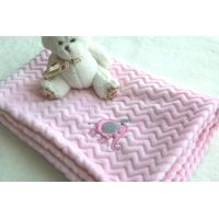 Cheap China Factory Wholesale Pink Color Embroidered Baby Blankets for Kids for sale