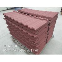 Cheap Zn - Al Steel Material Color Stone Coated Steel Roof Tiles 1340x420mm Size for sale