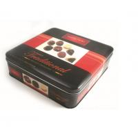 Promotional Customized Desgin Fancy Metal Square Tin Box Chocolate Tin Box With Stamping LOGO