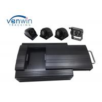 Cheap HD Sturdy 3G Mobile DVR 4 Channel 2TB HDD Storage 4 Cameras RS232 For Bus for sale