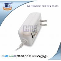 AC DC 12V 2A Power Adapter , US Overseas Plug Adapters CEC Level VI